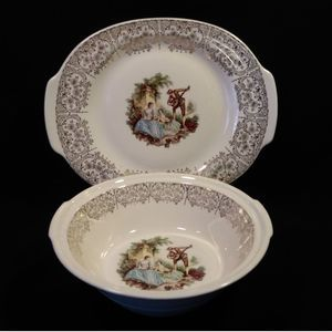 American Limoges TRIUMPH CHINA D'OR Serving Dishes